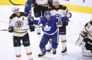 What were the Maple Leafs doing to stifle the Bruins' first line?