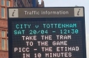 Manchester transport chiefs are back with more football bantz