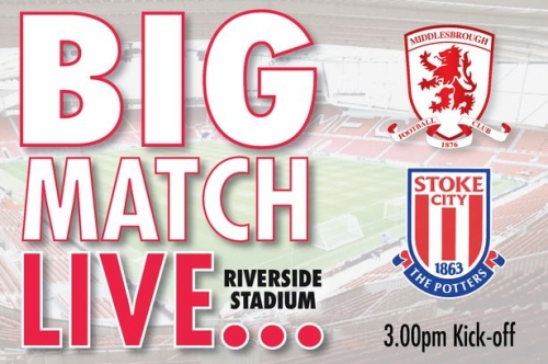 Middlesbrough vs Stoke City LIVE! Team news from the Riverside coming up
