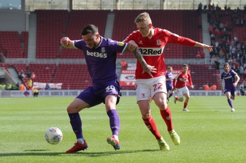 Middlesbrough 1, Stoke City 0: Half-time update after Assombalonga hands Boro early lead
