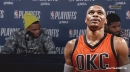 Russell Westbrook gives reporter the cold treatment during postgame presser