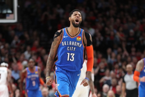 PG Uses 'Next Question' in Response to his Late-Game Dunk
