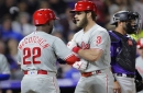 Rockies surge early but fall to Phillies, with Bryce Harper's three-run homer the difference