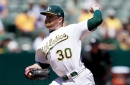 A's swept by Jays as pitcher Brett Anderson leaves with ankle injury