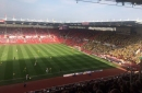 The photo which tells the story of Stoke City and Norwich's seasons