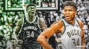 Bucks superstar Giannis Antetokounmpo is first player to score 40-plus points in less than 32 minutes in a playoff game
