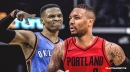 Russell Westbrook ducks response to question about duel with Damian Lillard