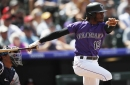 """Rockies outfielder Raimel Tapia, with flash, web gems and a bat """"con mucho swagger,"""" is forcing himself into a starting role"""