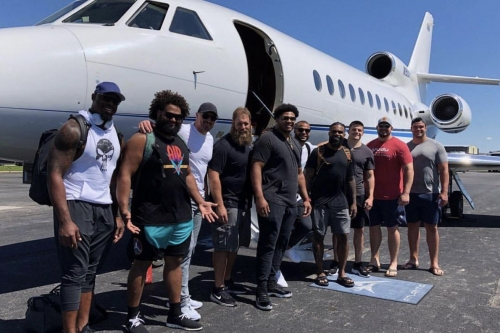 Some Cowboys players are headed on a nice trip together