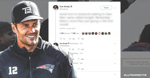 Patriots QB Tom Brady posts hilarious message for NFL draft prospects