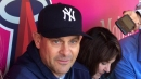 Yankees manager Aaron Boone talks about the addition of Cameron Maybin