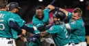 Mitch Haniger delivers winning RBI in 11th inning of 5-4 victory over Rangers