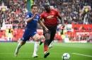 Cesar Azpilicueta's response to Romelu Lukaku's shoulder barge during Manchester United vs Chelsea