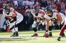 Who will be the Falcons' starting left guard in 2019?
