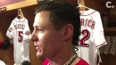 Derek Dietrich talks about his role as 'beekeeper' at Reds game