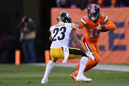 """Broncos WR Emmanuel Sanders """"feeling good"""" but not putting timetable on return from Achilles injury"""