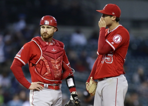 Tyler Skaggs allows 8 runs in Angels' blowout loss to Tigers