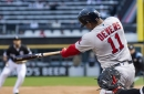 Rafael Devers is controlling the zone....sort of