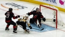 Chris Wagner converts easy tap-in to get Bruins a goal