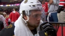 McAvoy wants to give Chris Wagner a big hug after Game 3