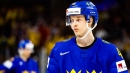 Elias Pettersson gets fancy at Swedish practice, heads puck into net
