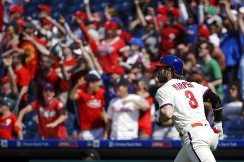 Bryce Harper blasts another HR, Phillies win 7-5