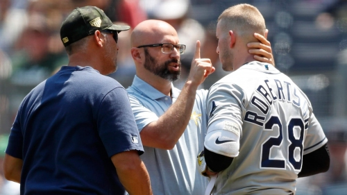 Rays' Yandy Diaz felt he was hit intentionally by Yankees, Daniel Robertson relieved he wasn't hurt