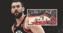 Marc Gasol dishes no-look pass to Pascal Siakam for the and-1