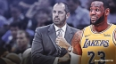 Lakers star LeBron James attends Frank Vogel's intro press conference