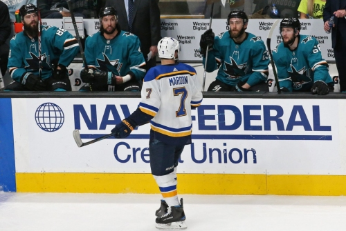 BenFred: San Jose's luck isn't running out. The Blues are pulling away.