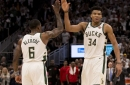 Giannis Antetokounmpo, Eric Bledsoe Named to NBA's All-Defensive First Team