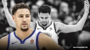 Warriors' Klay Thompson reacts to not earning All-NBA honors over Hornets' Kemba Walker