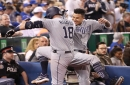 Padres pound Blue Jays with team-record seven homers; Quantrill gets first win