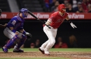 Angels beat Rangers with two runs in the ninth inning, end five-game losing streak