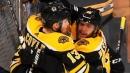 Bruins' DeBrusk feeds Coyle to open scoring in Game 2