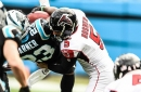New Falcons teammates Matt Bosher and Kenjon Barner discuss 'the hit'
