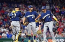 Milwaukee Brewers place Gio Gonzalez on injured list, activate Manny Pina
