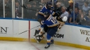 Blues, Bruins start Game 3 with massive hits from McAvoy, Blais