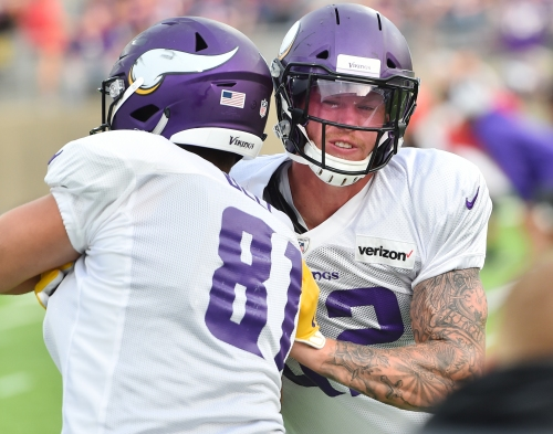 Kyle Rudolph has 'no reason to think' he won't remain with Vikings