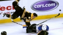 NHL Hits of the Week: Bruins' Krug goes flying without helmet