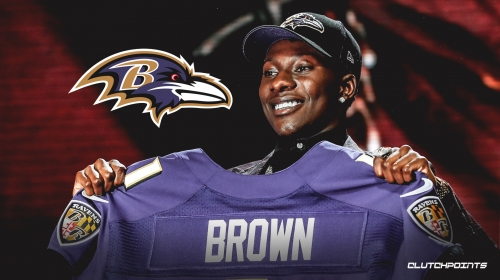 """Ravens sign first-round pick """"Hollywood' Brown"""