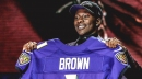 Baltimore Ravens officially signs rookie WR Marquise Brown