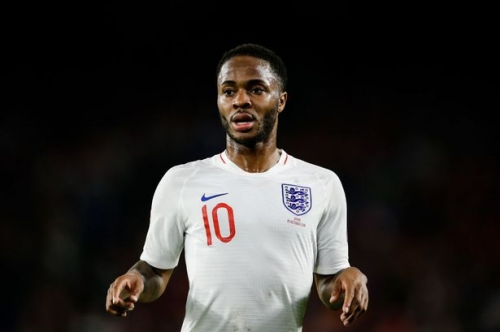 Man City winger Raheem Sterling asked about captaining England