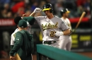 Piscotty leads A's past Angels