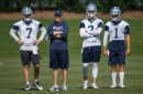 Who has the advantage in the Cowboys' backup quarterback competition?
