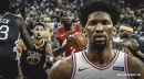 Sixers' Joel Embiid reacts hilariously to NBA Finals, says he was 'one hand wash away'
