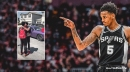 Video: Spurs' Dejounte Murray gifts brother with car for graduating, making honor roll