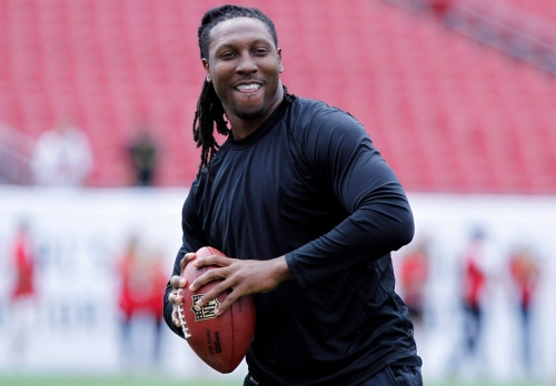 Roddy White announces he's about to go into Falcons' Ring of Honor