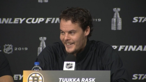 Rask hopes today's kids still dream of Stanley Cup Game 7