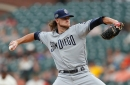 Padres' Paddack strong vs. Giants, but bullpen blows game